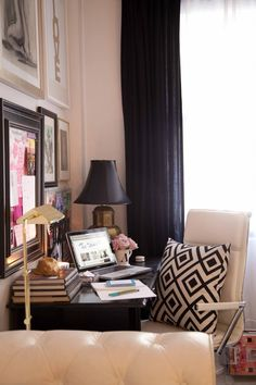 The Decoristau0027s Eclectic + Glam Home Office