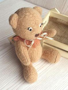 Teddy bear. Soft teddy bear is made of soft jersey. The growth