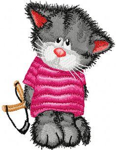 Cat is hooligan Embroidery Machine Design