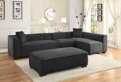 Metz Collection 4Pcs Sectional Sofa Set 8303-AC