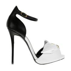 Giuseppe Zanotti Black & White 'Colette' Sandals €710 Fall Winter 2013 #Shoes #Heels