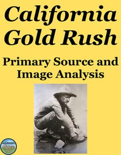 Students read a brief background on the California Gold Rush and a primary source on one man's experience prospecting for gold. They then answer 15 questions of varying degrees of difficulty, complete one creative task, and analyze 5 images (prompts provided). The answers are provided where appropriate and this would be great for a sub!