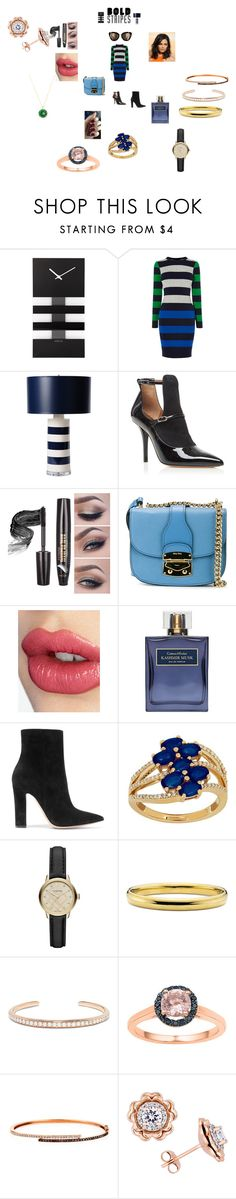 """""""Big, Bold Stripes"""" by annali1983 ❤ liked on Polyvore featuring NeXtime, Karen Millen, Barbara Cosgrove, Givenchy, Miu Miu, Charlotte Tilbury, Gianvito Rossi, Lord & Taylor, Burberry and Anita Ko"""