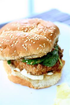 Asian Salmon Burgers with Miso Dressing