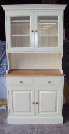 Painted Bespoke Half Glazed Dresser