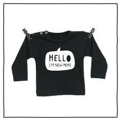 100% katoenen shirt met hippe opdruk New Here vanPauline door vanpauline op Etsy https://www.etsy.com/nl/listing/222885188/100-katoenen-shirt-met-hippe-opdruk-new