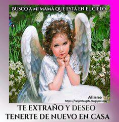 Tarjetitas en Gifs: Busco a mi mamá que está en el cielo