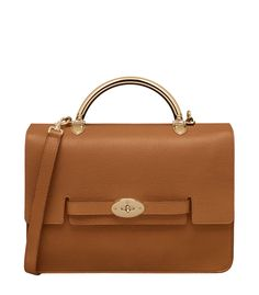 6f3449448bd3 Mulberry Large Bayswater Shoulder in Ginger Grainy Calf –  ShopBAZAAR Mulberry  Purse