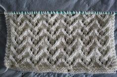 Een beetje laat deze week, maar hier is dan toch het nieuwe blokje voor de deken... Het ajourpatroontje komt uit het Burda breistekenboek. ...