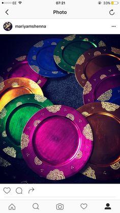 Stunning Mehndi plates/thaals by HennacandlesGifts on Etsy
