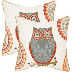 Safavieh Percy Gray Pillow, Set of 2