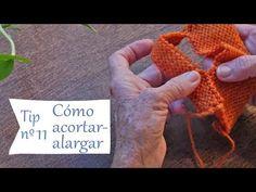 Cómo acortar-alargar una prenda tejida 👌 Tips para Tejer Bien y Fácil - YouTube Fingerless Gloves, Arm Warmers, Stitch, Knitting, Crochet, Tips, Youtube, Videos, Knitting And Crocheting