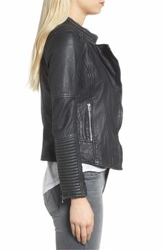 Main Image - Goosecraft Quilted Leather Jacket