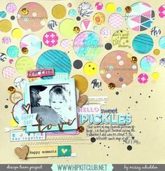 Hip Kit Club DT Project - by Missy Whidden - 2015 March Hip Kits - Crate Paper, Pinkfresh Studio, My Mind's Eye, American Crafts, Freckled Fawn, Dylusions, Elle's Studio, Webster's Pages