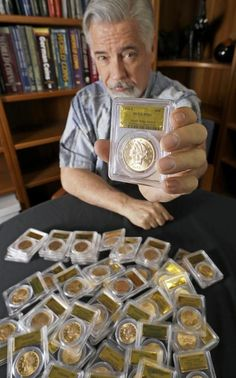 the property 150 years ago buried the coins as a kind of California gold rush-era bank - to save as an investment and for a rainy day. The coins were then forgotten for over a century Silver Coins For Sale, Gold Coins, Buy Gold And Silver, Numismatic Coins, Coins Worth Money, Finding Treasure, Valuable Coins, Coin Worth, Gold Money
