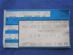 Bon Jovi, New World Music Theatre, 8/12/1995, 25.00