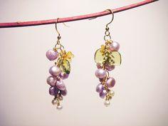 Dangle Earrings – Lilac Blooming Earrings Botanical Gift for Gardner – a unique product by Festije on DaWanda