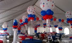 American Theme Tent decor by DreamARK Events. See more: www.dreamarkevents.com