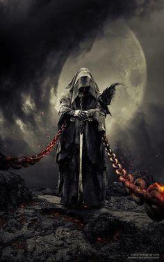 Ideas Fantasy Art Dark Horror For 2019 Dark Fantasy Art, Fantasy Kunst, Fantasy Artwork, Arte Horror, Horror Art, Grim Reaper Art, Grim Reaper Tattoo, Arte Obscura, Dark Lord