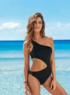 2f70c43a4ac6 CALZEDONIA | Bañador Entero de Canalé Cut Out Victoria Bikinis De Moda,  Tipos De Bikinis