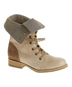 Look at this Gypsum Narcissa Leather Boot on #zulily today!