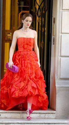 Blair Waldorf in Oscar De La Renta