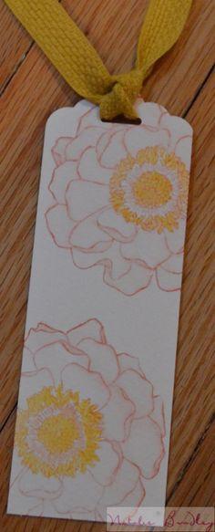 natalie bradley, floral watercolored bookmark, stampin up bookmark