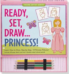 Ready, Set, Draw Princess! (How to Draw Activity Book) (Young Artist) by $14.39