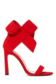 Betsey Johnson Frisky Bow Leather Heel - Red | Shop The Party Shop at Nasty Gal #MACxNastyGal