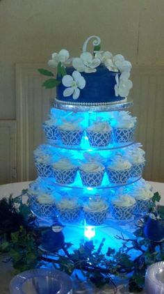 Image result for cupcakes wedding orchid peacock