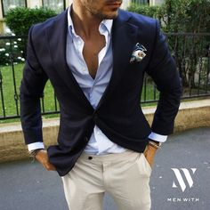 Love this picture of our dear friend - Blazer - Anzug Muster Mens Summer Wedding Suits, Summer Wedding Outfits, Casual Wedding Outfits For Men, Beach Wedding Men Outfit, Wedding Ties, Summer Outfit, Terno Casual, Casual Suit, Casual Groom Attire