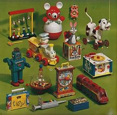 Page from Vintage 1960s Christmas Marshall Field Toy Catalog.
