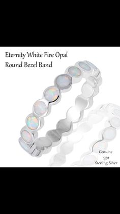 Scalloped edge opal ring