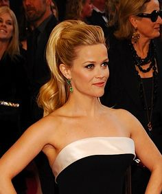 reese oscars 2011. High pony.  Less poof. No extensions.