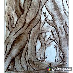 Charcol drawing.