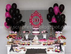 festa paris adulto - Pesquisa Google Moms 50th Birthday, Barbie Birthday, Pink Birthday, Birthday Parties, Balloon Decorations, Birthday Decorations, Paris Theme, Party Cakes, Holidays And Events