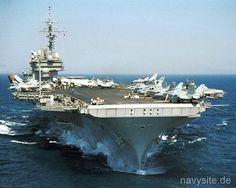 USS. Kitty Hawk (CV-63) in the Indian Ocean