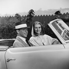 """With Frank Sinatra During Filming of   """"High Society"""", photo corbis"""