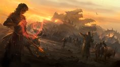 Aftermath by sandara.deviantart.com on @deviantART -  Epic image with great contrast between light and dark.
