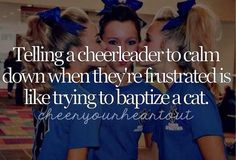 If you don't have a cheerleader in the house, then you have NO idea how true this really is! LOL!! Funny Cheer Quotes, Funny Cheerleading Quotes, Cheerleader Quotes, Cheerleading Bows, Cheer Funny, Sport Quotes, Cheer Sayings, Cheer Stuff, Cheer Pics