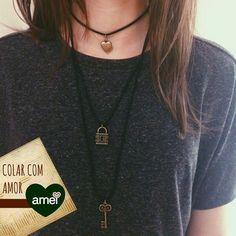 Colar lindo da @loja_amei ❤️ #lojaamei #colar #etiquetaamei #lindo #acessório