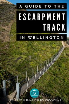 The Paekakariki Escarpment track is an amazing walking trail located in Wellington. On this walk you will be treated to spectacular views of the Kāpiti coastline as well as Kāpiti island. Click here to learn more about this incredible place. Railroad Tracks, Passport, Photographers, Train Tracks