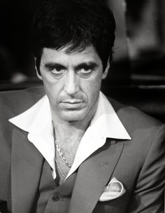 """""""I always tell the truth. Even when I lie"""" - Tony Montana (Al Pacino) , Scarface 1983 Al Pacino, Scarface Quotes, Scarface Movie, Scarface Poster, Top 10 Actors, Gangster Movies, Gangster Gangster, The Godfather, Godfather Tattoo"""