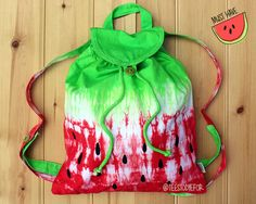 Watermelon Tie Dye Ombre Backpack Bag                                                                                                                                                      More