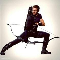 Jeremy Renner's new hawkeye costume