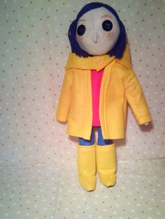Coraline - Handmade Plushie Made Out Of Felt