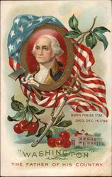 Victorian Post Card:  George Washington, Father of this Country