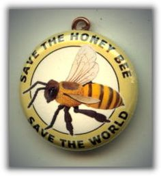 SAVE the HONEY BEE Save the World Altered Art Charm Pendant with Rhinestone on Etsy, $7.00