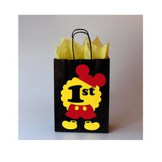 Mickey Mouse favor bags Mickey Mouse birthday party decorations Mickey gift favor treat candy goodie bags 1st birthday Mickey party Disney
