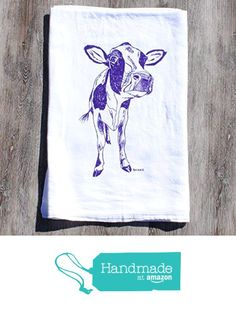 Dish Towel - Flour Sack Cotton - Purple Cow from Heaps Handworks https://www.amazon.com/dp/B017JHNFAS/ref=hnd_sw_r_pi_dp_Airhyb9SA02AF #handmadeatamazon